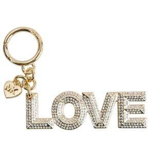 "Michael Kors Gold ""LOVE"" Bag Charm"